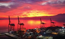 Quay cranes in Rijeka container terminal