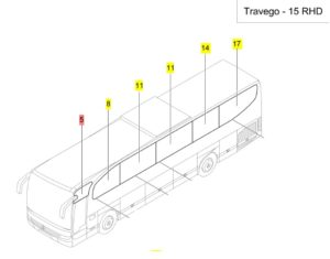 travego side glass